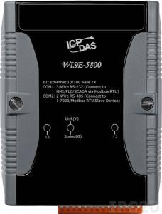 WISE-5800 Web-программируемый контроллер, 16-bit CPU, 768 кб SRAM, 512 Кб Flash, поддержка I-7000 /M-7000/ плат XW, Modbus TCP Slave, Modbus RTU Master