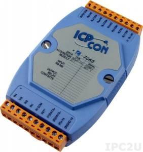 I-7065 Модуль ввода - вывода, 5 каналов мощного релейного вывода / 4 канала дискретного ввода, c изоляцией до 3750 В