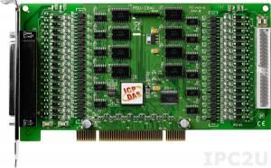 PISO-C64U 64-канальный PCI адаптер дискретного выхода с открытым коллектором и гальванической изоляцией, переходник CA-4037x1, разъем CA-4002x2