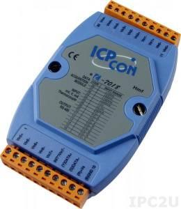 I-7018 Модуль ввода, 8 каналов аналогового ввода или сигнала с термопары: J.K.T.E. R.S. B. N.C