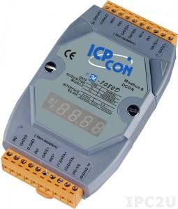 M-7080D Модуль ввода - вывода, 2 канала счетчика/частотомера / 2 канала дискретного вывода, с индикацией, Modbus RTU