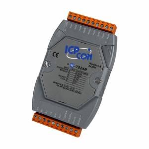 M-7024R Модуль вывода, 4 канала аналогового вывода - 14-бит, 5 каналов дискретного ввода, Modbus RTU, защита от перенапряжения