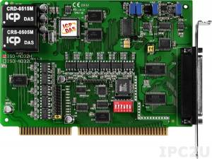 ISO-AD32H Адаптер ISA, 32SE/16D каналов АЦП с изоляцией, разъем CA-4002x1