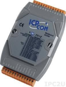 M-7015 Модуль ввода - вывода, 6 каналов ввода сигнала с термосопротивления: Pt100, Pt1000, Ni120, Ni100, Cu50, Cu100, CU1000, Modbus RTU