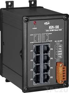 NSM-108 Промышленный неуправляемый коммутатор с 8 портами 10/100 Base-T(X) Ethernet, металлический корпус