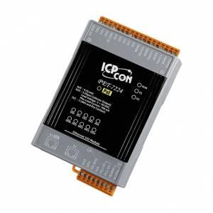PET-7224 Модуль ввода - вывода, 4 канала аналогового вывода / 5 каналов дискретного ввода / 5 каналов дискретного вывода, 2xEthernet, PoE