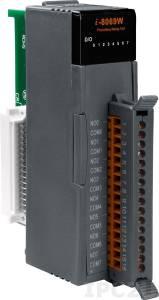 I-8069W Высокопрофильный модуль вывода, 8 каналов вывода с фотоМОП реле, с изоляцией до 1500В, параллельная шина