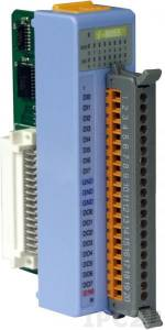I-8055 Низкопрофильный модуль ввода - вывода, 8 каналов дискретного ввода, сухой контакт / 8 каналов дискретного вывода, открытый коллектор, без изоляции, параллельная шина