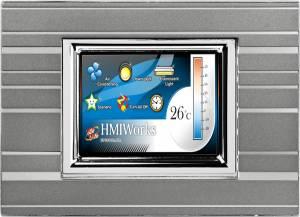 """TPD-283-M2 Панель HMI высокоскоростная, сенсорный экран 2.8"""", Ethernet (10/100 Мбит/с), питание только через PoE, декоративная панель, цвет серый"""