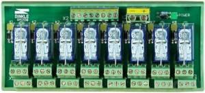 RM-208 Выносная плата 8 силовых реле для монтажа на DIN-рейку(250Vac@8A)