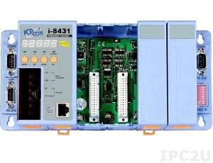 I-8431-MTCP Программируемая корзина расширения для модулей I-87K/I-8K, 40МГц, 512кб Flash, 512кб SRAM, 2xRS232, 1xRS232/485, Ethernet 10BaseT, 7-сегментный индикатор, Mini OS7, 4 слота расширения, протокол Modbus TCP/RTU