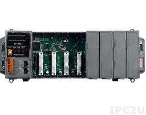 iP-8841 PC-совместимый промышленный контроллер 80МГц, 768кб SRAM, 512кб Flash, 2xLAN, 2xRS232, 1xRS485, 1xRS232/485, 7-сегментный индикатор, 8 слотов расширения, Mini OS7