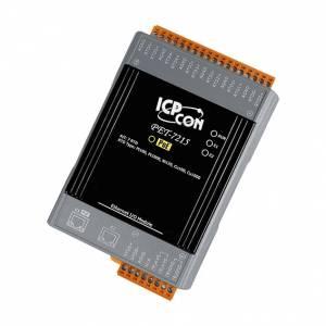PET-7215 Модуль ввода, 7 каналов ввода сигнала с термосопротивления: Pt100, Pt1000, Ni120, Ni100, Cu100, CU1000, 2xEthernet, PoE