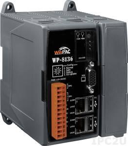 WP-8136-EN-1500 PC-совместимый промышленный контроллер PXA270 520МГц, 128Mб Flash, 128Mб SDRAM, 1xRS-232, 1xRS-485, 2xEthernet, 1 слот расширения, Win CE 5.0, ISaGRAF 3.5, Indusoft 1500 тегов