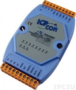 I-7063BD Модуль ввода - вывода, 3 канала вывода с твердотельного реле / 8 каналов дискретного ввода, c изоляцией до 3750 В и индикацией