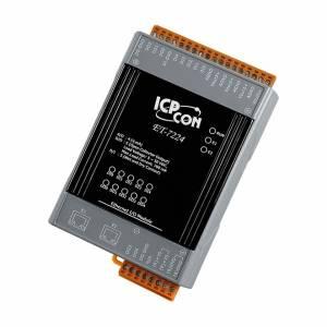 ET-7224 Модуль ввода - вывода, 4 канала аналогового ввода / 5 каналов дискретного ввода / 5 каналов дискретного вывода, 2xEthernet
