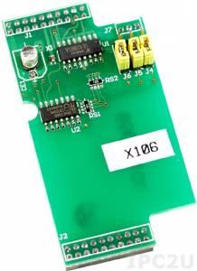 X106 Плата расширения для контроллеров серии I-7188XC, 3 канала дискретного ввода и 2 канала дискретного вывода