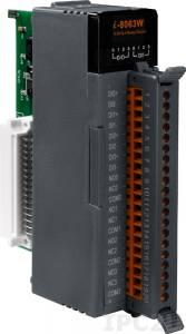 I-8063W Высокопрофильный модуль ввода - вывода, 4 канала дискретного ввода / 4 канала релейного вывода, с изоляцией до 3750В, параллельная шина