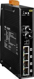 NS-205PFT Промышленный 5-портовый неуправляемый коммутатор: 4 порта 10/100BaseT(X) c PoE IEEE 802.3af, 1 порт 100BaseFX (многомодовое волокно, разъем ST)