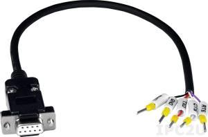 CA-0903 9-и пиновый Female D-sub & RS-232 соединительный кабель, до 50В, ПВХ, 30 см