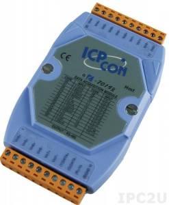 I-7019R Модуль ввода, 8 каналов аналогового ввода или сигнала с термопары: J. K. T. E. R. S.B. N. C. L. M, L(DIN)43710, защита от перенапряжения