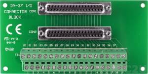 DN-37/N Плата клеммников с разъемом DB-37, без крепления на DIN-рейку, кабель CA-3710 (37-pin Male-Male D-sub 1.0 m), 1A/50В