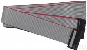 CA-2010 Плоский кабель с разъемами IDC-20, 1 м, ПВХ, 30В