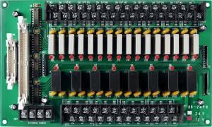 DB-24PR/12 Выносная плата 24 силовых реле (12В)(250Vac/30Vdc@5A), совместима с Opto-22