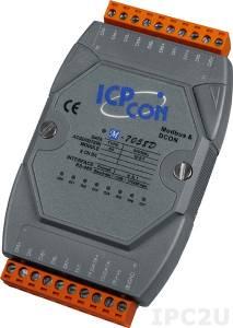 M-7058D Модуль ввода, 8 каналов дискретного ввода АС, c изоляцией до 5000 В и индикацией, Modbus RTU