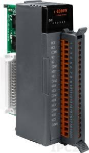 I-8060W Высокопрофильный модуль вывода, 6 каналов релейного вывода, с изоляцией до 1500В, параллельная шина