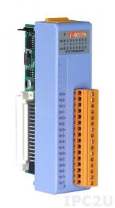 I-8017H Низкопрофильный модуль ввода, 8 каналов аналогового ввода, 14-бит, параллельная шина