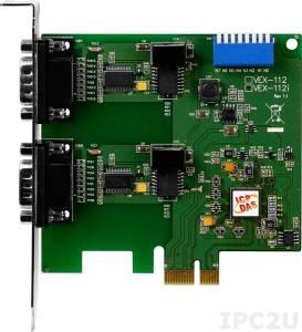 VEX-112i PCI Express адаптер 2xRS-232 115.2кбод с изоляцией