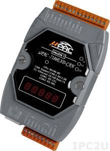 uPAC-7186EXD-CAN PC-совместимый промышленный контроллер 80МГц, 512кб Flash, 512кб SRAM, 1xRS232, 1xRS485, CAN, Ethernet, 7-сегментный индикатор, MiniOS7