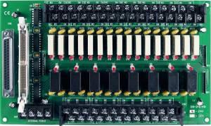DB-24PRD/24 Выносная плата 24 силовых реле (24В)(270Vac/150Vdc@5A), совместима с Opto-22, разъем DB37