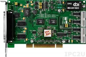 PCI-826LU Многофункциональный адаптер Universal PCI, 32SE/16D каналов АЦП, 2 канала ЦАП,32 программируемых канала DIO, разъем CA-4002