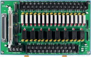 DB-24PRD/24/DIN Выносная плата 24 силовых реле (24В)(270Vac/150Vdc@5A), совместима с Opto-22, разъем DB37, монтаж на DIN-рейку