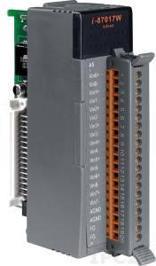 I-87017W-A5 Высокопрофильный модуль ввода, 8 каналов аналогового ввода -150..+150В, 16-бит, защита от высокого напряжения, последовательная шина