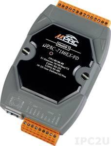 uPAC-7186EX-FD PC-совместимый промышленный контроллер 80МГц, 512кб Flash, 512кб SRAM, 64Мб Flash-disc, 2xRS232/485, 10/100M Ethernet, MiniOS7