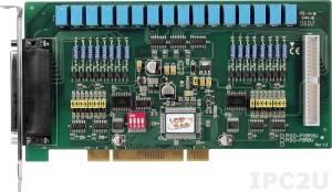 PISO-P16R16U Universal PCI адаптер 16DI с гальванической изоляцией, 16 реле, кабель CA-4037W два D-Sub разъема CA-4002