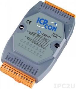 M-7045D Модуль вывода, 16 каналов дискретного вывода, c изоляцией до 3750 В и индикацией, Modbus RTU