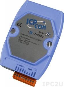 I-7188E2 Программируемый Преобразователь последовательных интерфейсов, 1xRS-232, 1xRS-485