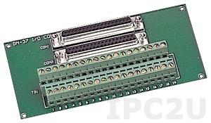 DN-37/2 Плата клеммников с разъемом DB-37, монтаж на DIN-рейку, кабель CA-3720(37-pin D-sub cable 1.0m), до 50В