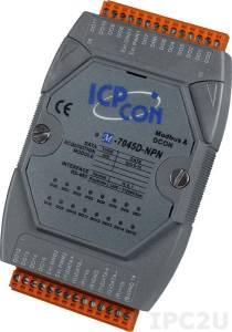 M-7045D-NPN Модуль вывода, 16 каналов дискретного вывода, c изоляцией до 3750 В и индикацией, Modbus RTU