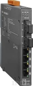 NSM-206AFCS-T Промышленный 6-портовый неуправляемый коммутатор: 4 порта 10/100 Base-T Ethernet, 2 порта 100BaseFX (одномодовое волокно, разъем SC, до 30 км), металлический корпус