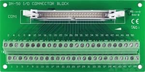 DN-50/N Плата клеммников с разъемом IDC-50, до 30В