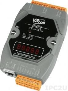 PDS-755D Программируемый Преобразователь последовательных интерфейсов, 1xRS-232, 4xRS-485, 7 - сегментный индикатор