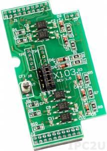 X103 Плата расширения для контроллеров серии I-7188XC(D), 7 каналов дискретного ввода с изоляцией