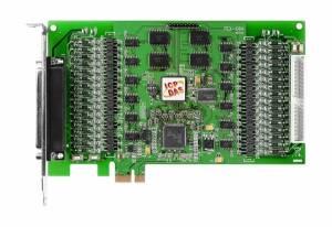 PEX-C64 64-канальный PCI Express x 1 адаптер дискретного выхода с открытым коллектором и гальванической изоляцией, переходник CA-4037x1, разъем CA-4002x2