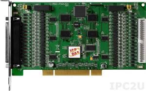 PISO-P32A32U 64-канальный Universal PCI адаптер дискретного ввода-вывода (32DI, 32DO/PNP) с гальванической изоляцией, переходник CA-4037x1, разъем CA-4002x2