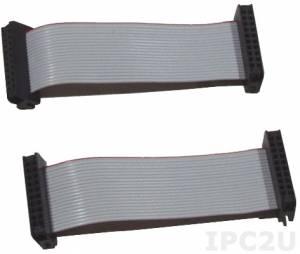CA-20006 Кабель 20-pin плоский, с зажимом 2.0 mm, 6 см, ПВХ, до 50В, 2 штуки